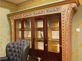 欧式书房收纳效果图