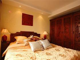 中式卧室整体衣柜设计图