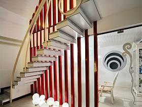 现代别墅过道楼梯设计方案