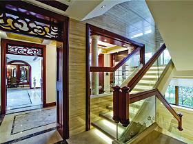 美式別墅過道樓梯設計圖