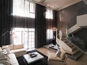 客厅楼梯沙发单人沙发设计案例