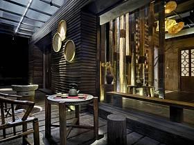 中式休闲区图片