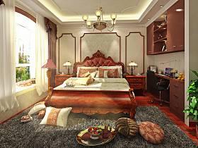 美式古典美式风格卧室装修案例