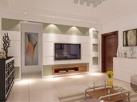 现代简约客厅电视柜电视背景墙设计图