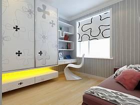 现代简约卧室整体衣柜设计案例