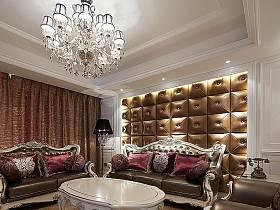 欧式欧式风格客厅吊顶背景墙沙发客厅沙发效果图