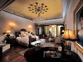 欧式巴洛克风格卧室吊顶设计方案