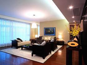 中式中式风格新中式客厅背景墙沙发客厅沙发案例展示