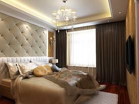 卧室窗帘装修案例