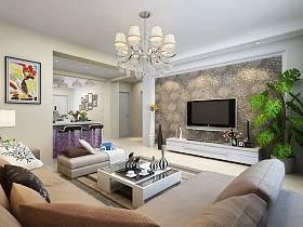 現代簡約客廳茶幾裝修效果展示