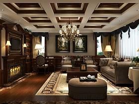 欧式古典欧式古典风格古典风格客厅吊顶图片