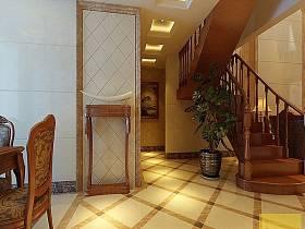 法式别墅过道楼梯设计案例展示