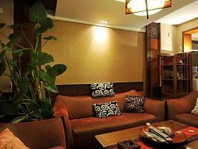 中式客厅跃层吊顶设计案例展示
