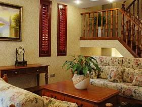 客厅复式楼跃层吊顶楼梯装修案例