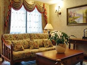 客廳躍層吊頂窗簾設計案例展示