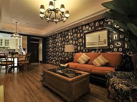 美式美式风格客厅背景墙沙发客厅沙发效果图
