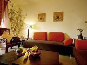 中式中式风格客厅背景墙沙发客厅沙发图片