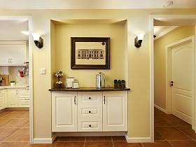 美式乡村风格玄关玄关柜装修案例
