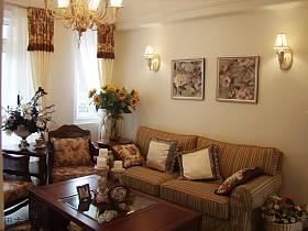 田园韩式客厅沙发茶几设计图