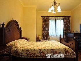 地中海臥室躍層吊頂窗簾設計圖