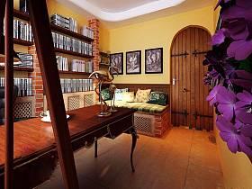 美式鄉村書房收納裝修效果展示