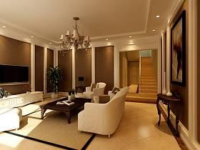 欧式简约客厅电视背景墙案例展示