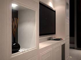 欧式简约卧室电视背景墙装修案例