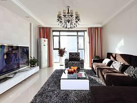 現代客廳吊頂電視背景墻圖片