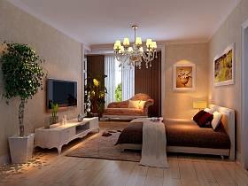 欧式卧室吊顶电视背景墙案例展示