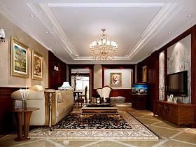欧式古典客厅电视背景墙设计方案