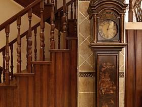 美式美式风格别墅楼梯装修效果展示