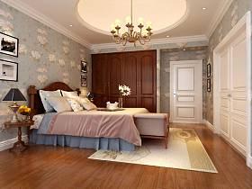 美式混搭混搭风格卧室吊顶设计方案