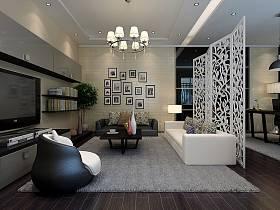 现代客厅吊顶电视背景墙设计案例展示