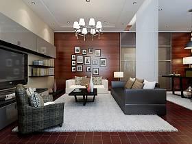 现代客厅吊顶电视背景墙设计案例