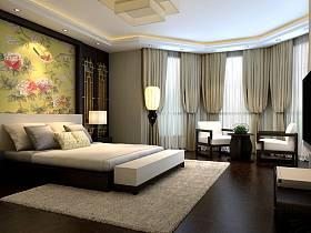 中式卧室电视背景墙案例展示