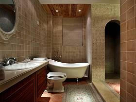 美式浴室淋浴房装修案例