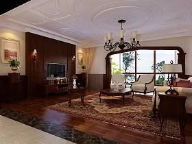 欧式客厅别墅电视背景墙设计案例展示