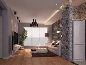 简约客厅吊顶电视背景墙设计图