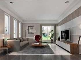 现代客厅电视背景墙案例展示