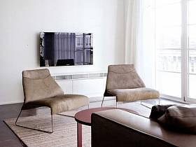 现代客厅单身公寓电视背景墙设计案例