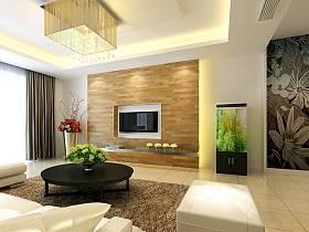 现代客厅吊顶电视背景墙图片