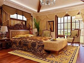 古典卧室别墅吊顶设计案例