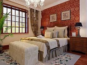 古典卧室别墅吊顶效果图