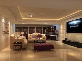 欧式简约客厅电视背景墙效果图