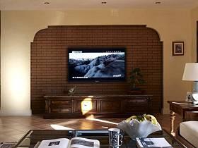 美式客厅别墅电视背景墙案例展示