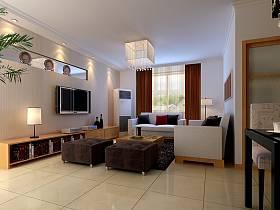 现代客厅吊顶电视背景墙设计图
