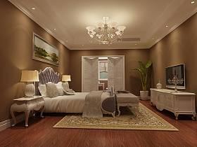 欧式卧室吊顶电视背景墙装修效果展示