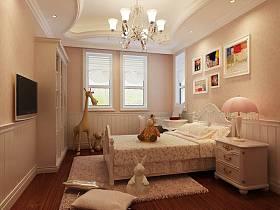 欧式卧室吊顶电视背景墙设计方案