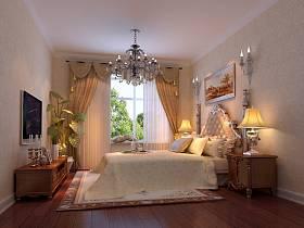 卧室吊顶电视背景墙装修案例