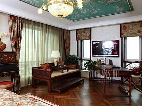 中式中式風格書房交換空間設計方案
